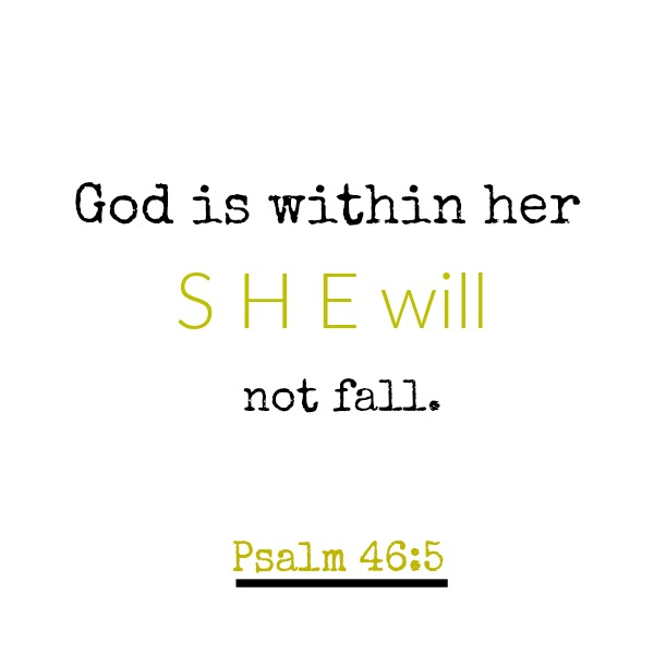 Scripture from Psalm 46 and inspirational quote.