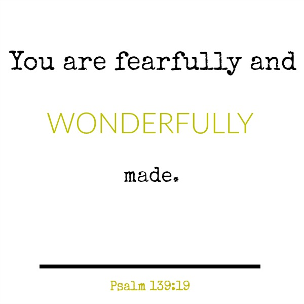 Inspirational quote and scripture from Psalm 139 on Hello Lovely Studio.