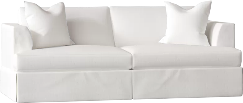Carly Sofa With Beach White Upholstery