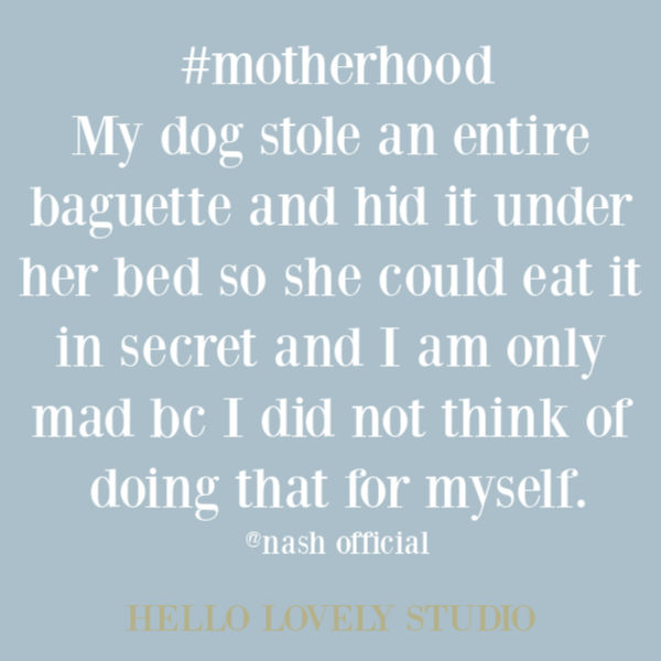 Funny quote and humor about motherhood on Hello Lovely Studio. #motherhood #quotes #funnyquote #humorquote #momhumor #mommeme