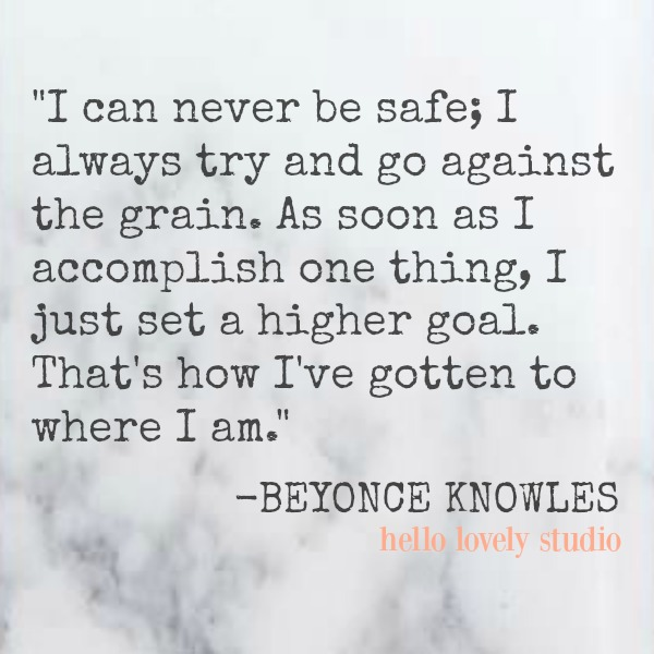 Inspirational quote about goals by Beyonce.