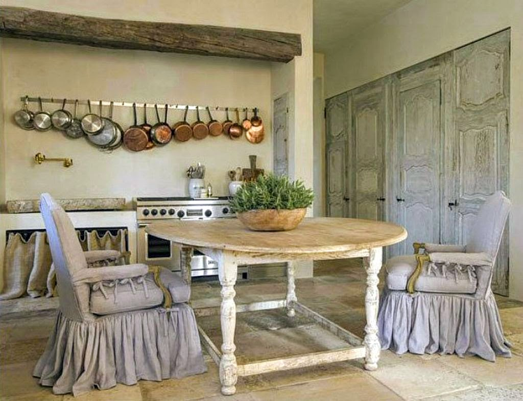 Rustic elegant French country kitchen by Pamela Pierce in Houston. Come enjoy photos of this house tour with architecture by Reagan Andre.