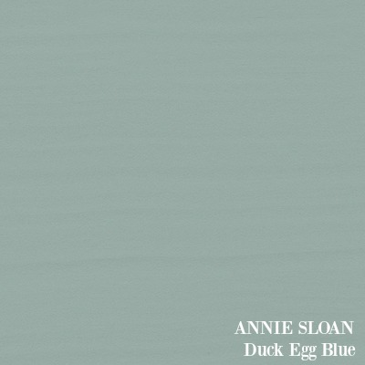 ANNIE SLOAN Duck Egg Blue paint color.