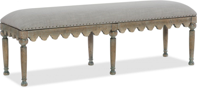 Belgian style bench: Hooker Furniture Boheme Madera.