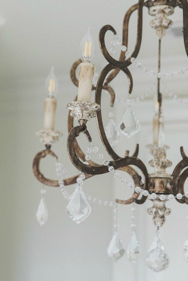 Romantic French country chandelier Terracotta Ballerina chandelier. Brit Jones Design.