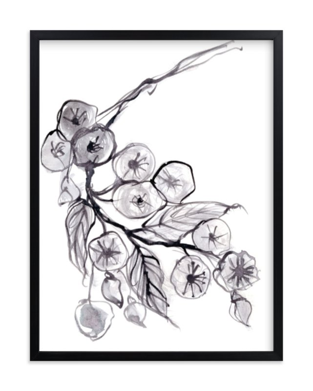Expressive floral art print from Minted