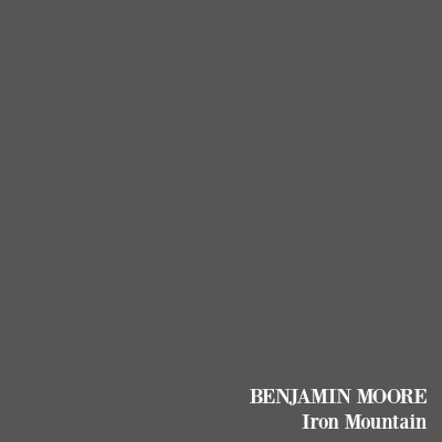 Benjamin Moore Iron Mountain soft black paint color.
