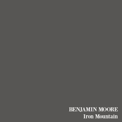 Benjamin Moore Iron Mountain soft black paint color.