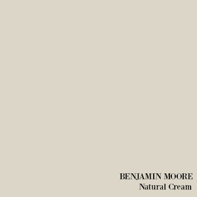 Benjamin Moore Natural Cream paint color.