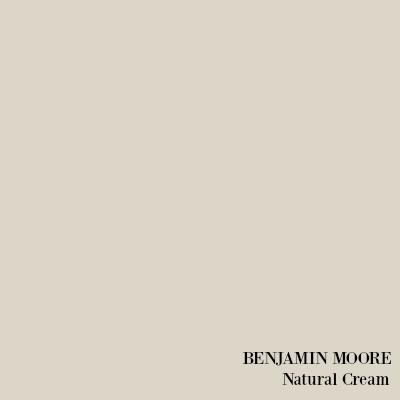 Benjamin Moore Natural Cream paint color.