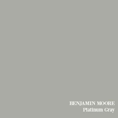 Benjamin Moore Platinum Gray paint color.