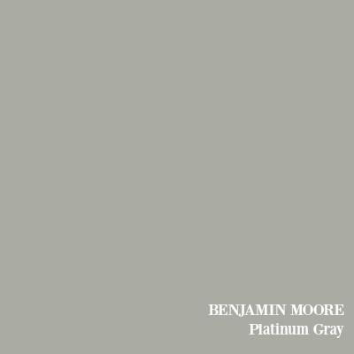 Benjamin Moore Platinum Gray paint color.