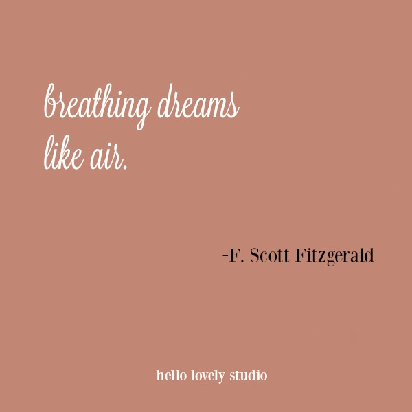 Inspirational quote by F. Scott Fitzgerald.