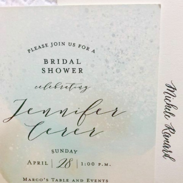 Bridal shower announcement from Minted. Hello Lovely Studio.
