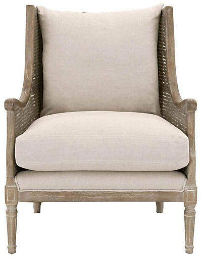 French country arm chair - perfect for an elegant living room with European inspired charm. #armchair #chairs #frenchcountry #furniture