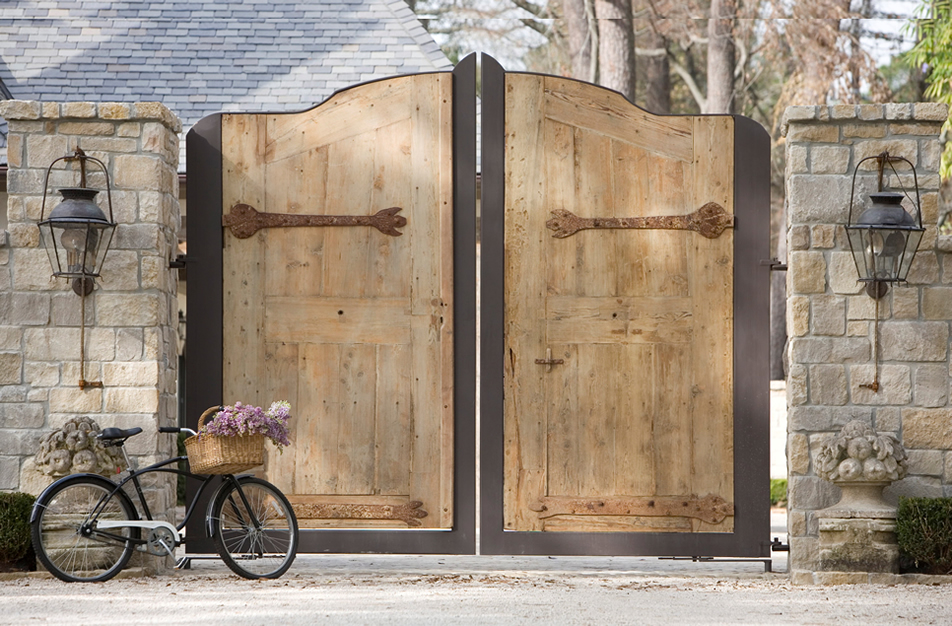 Rustic, antique wood doors from Europe - Chateau Domingue.