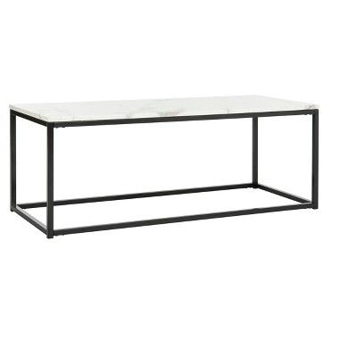 Safavieh coffee table with black base at Target