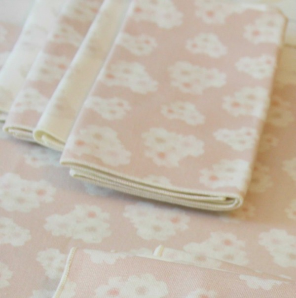 Pink peony napkins and tablecloth runner from Minted - Hello Lovely Studio.