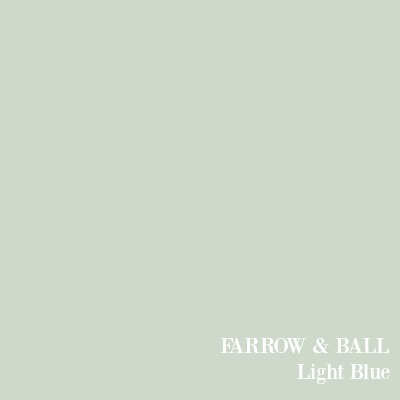 Farrow & Ball Light Blue paint color.