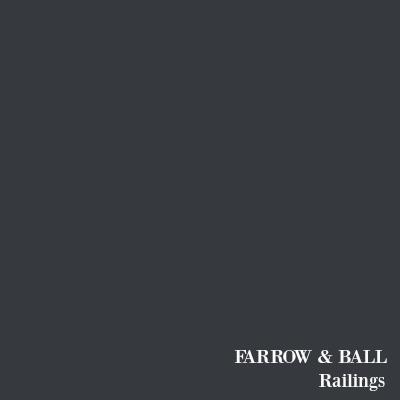 Farrow & Ball Railings black paint color.