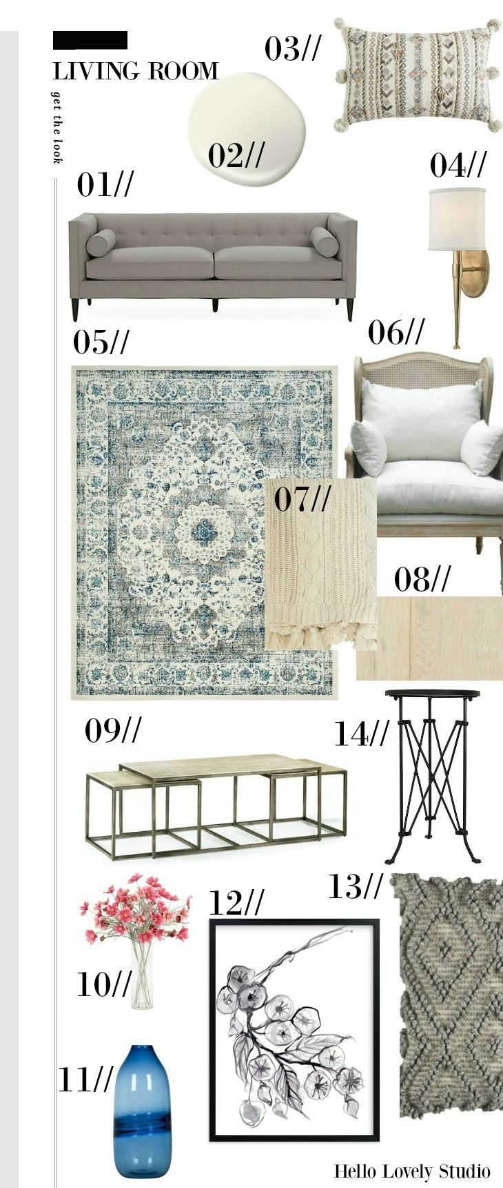 Fixer Upper The Club House Living Room Get the Look Mood Board