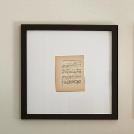 Framed Vintage Book Page in Black Frame. #vintagestyle #framedart #homedecor