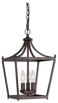 Farmhouse style bronze 3-light lantern. #lanterns #lighting #pendantlight #vintagestyle #frenchfarmhouse
