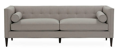 Grey Georgina Tufted Sofa.