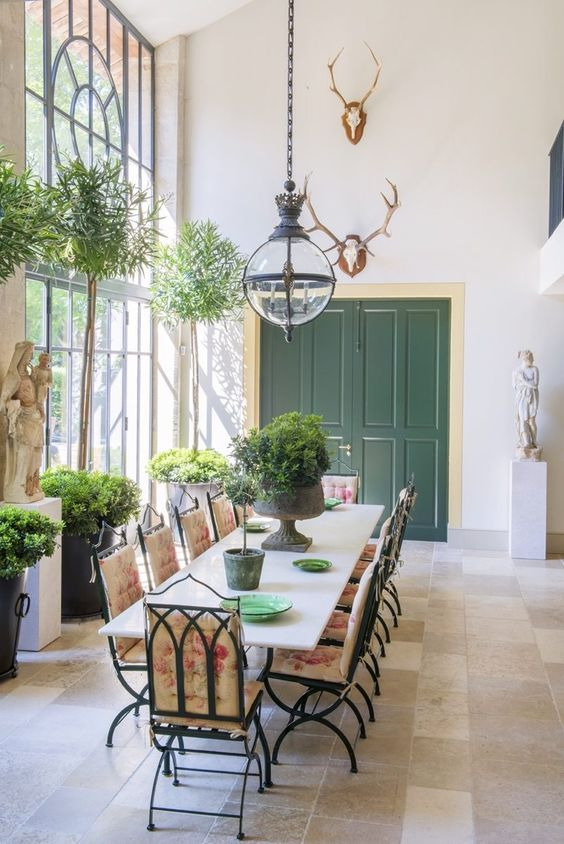 Orangery in French farmhouse in Provence.