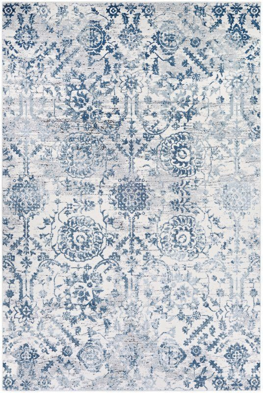 Emily Steel Blue Area Rug