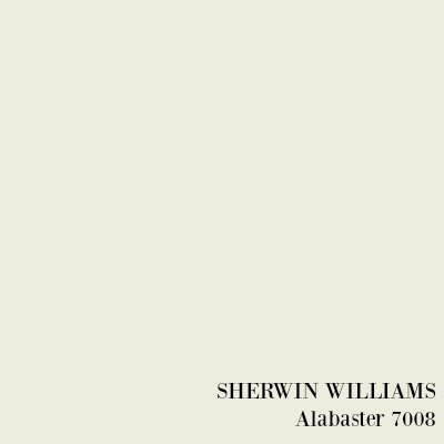 SHERWIN WILLIAMS Alabaster paint color.