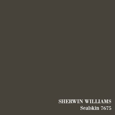 SHERWIN WILLIAMS Sealskin paint color.
