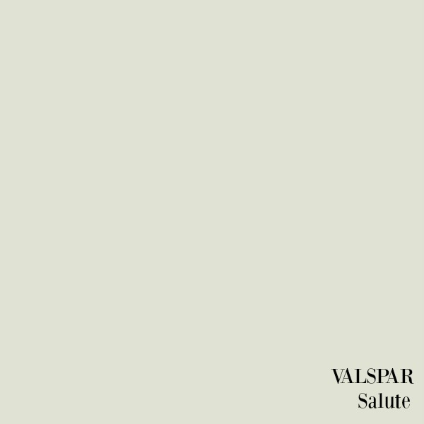 Valspar Salute paint color. Shop my kitchen and find a helpful resource Guide For a Decidedly Simple Serene Grey Kitchen in Arizona!