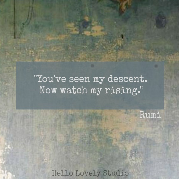 Inspirational quote from Rumi.