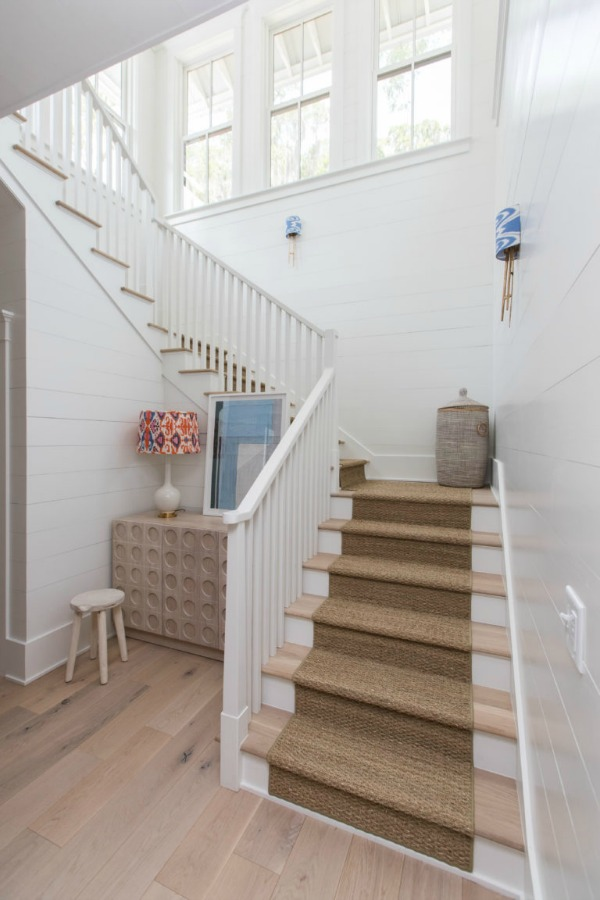 Staircase in Modern Coastal Cottage Interior Design Inspiration in 2018 Coastal Living Idea House. Design by Jenny Keenan and architecture by Eric Moser.
