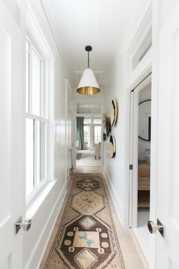 Hall in Modern Coastal Cottage Interior Design Inspiration in 2018 Coastal Living Idea House. Design by Jenny Keenan and architecture by Eric Moser.