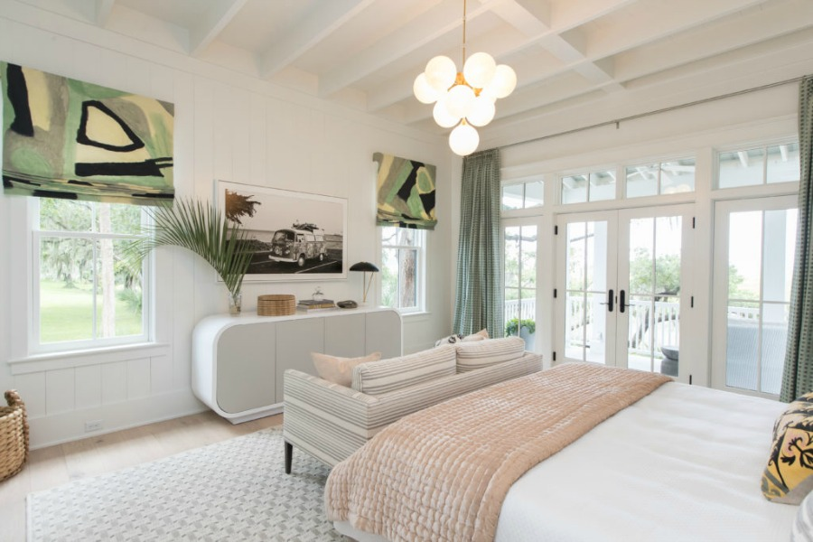 Bedroom in Modern Coastal Cottage Design Inspiration in 2018 Coastal Living Idea House. Design by Jenny Keenan and architecture by Eric Moser.