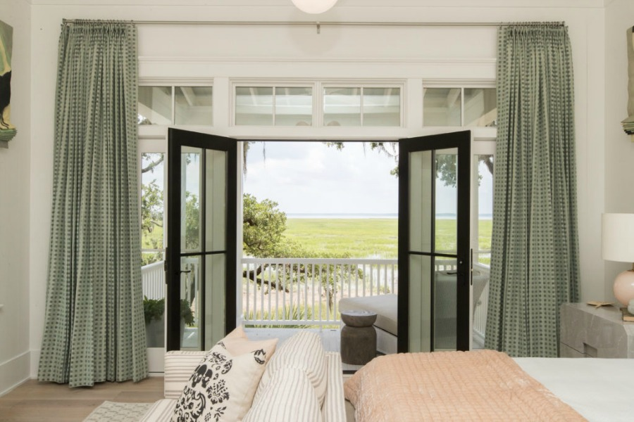Porch off bedroom in Modern Coastal Cottage Design Inspiration in 2018 Coastal Living Idea House. Design by Jenny Keenan and architecture by Eric Moser.