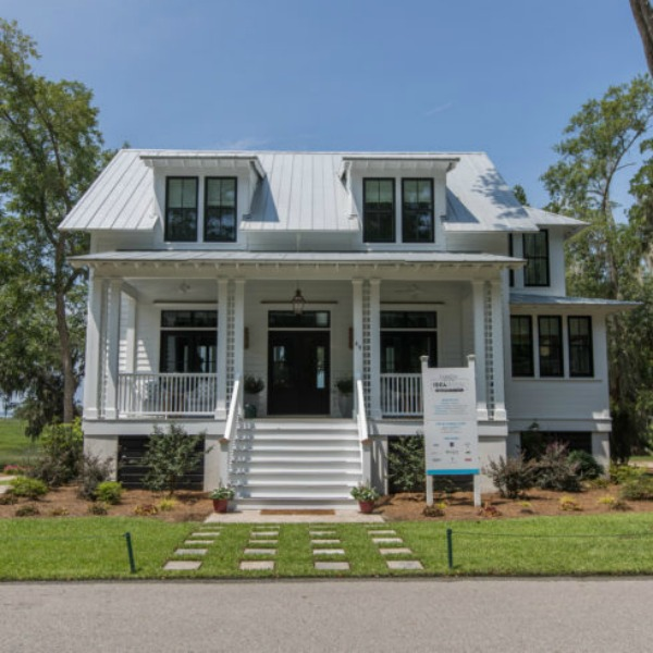 Exterior of Modern Coastal Cottage Interior Design Inspiration in 2018 Coastal Living Idea House. Design by Jenny Keenan and architecture by Eric Moser.