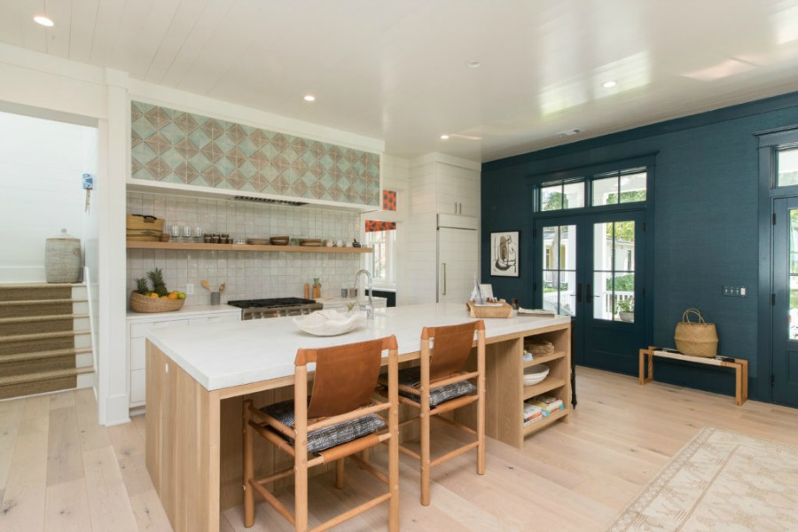 Kitchen in Modern Coastal Cottage Interior Design Inspiration in 2018 Coastal Living Idea House. Design by Jenny Keenan and architecture by Eric Moser.