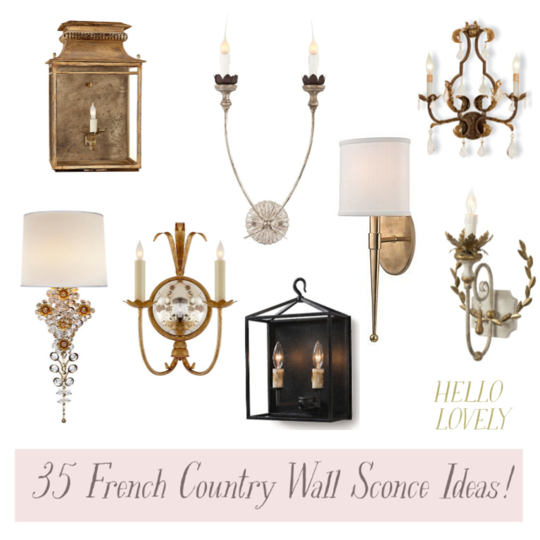 35 French Country Wall Sconce Ideas - Hello Lovely Studio. Come shop for beautiful lighting to complement your European inspired spaces. #lighting #frenchcountry #wallsconces #lighting #lightfixtures #romanticdecor #interiordesign
