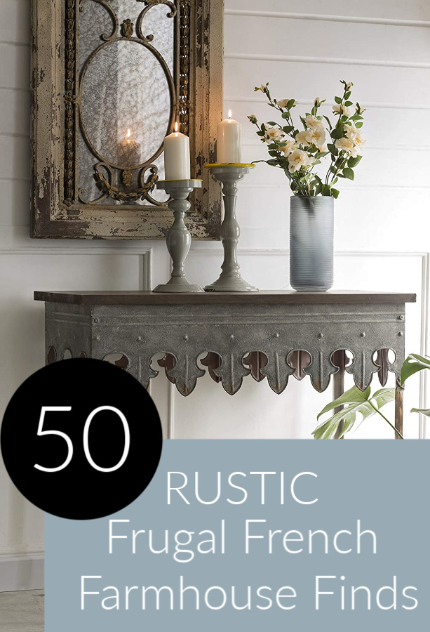 How to Decorate Frugally With 50 Rustsic French Farmhouse Finds. #hellolovelystudio #frenchfarmhouse #homedecor #furniture #interiordesign