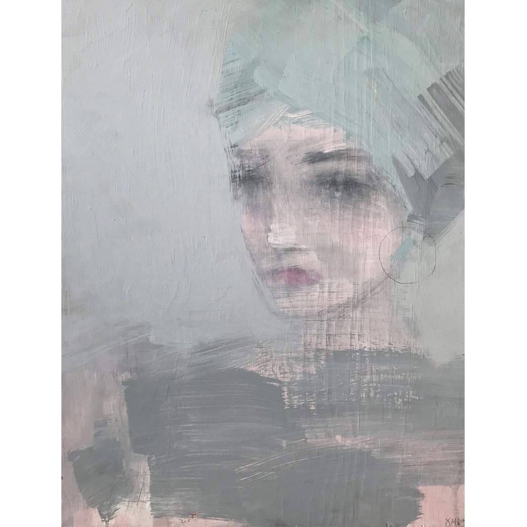 Ethereal and poetic painting (Contradiction 2) by Jorunn Mulen of Norway for Shabby Chic Couture (Rachel Ashwell).