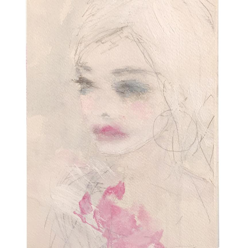 Ethereal and poetic painting by Jorunn Mulen of Norway for Shabby Chic Couture (Rachel Ashwell).