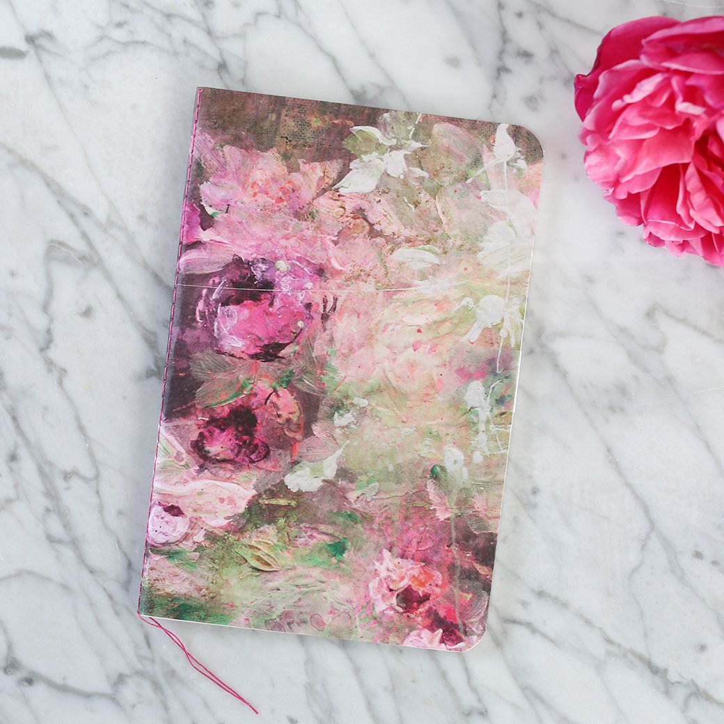Laurence Amelie illustrated notebook - Shabby Chic Couture.