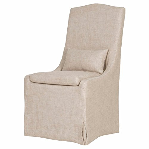 Marklaine French Linen Slipcovered Dining Chair.