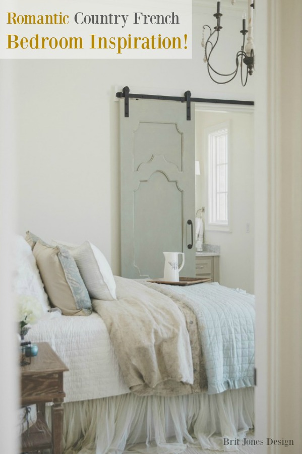 banner for Romantic Country French Bedroom Inspiration on Hello Lovely Studio.