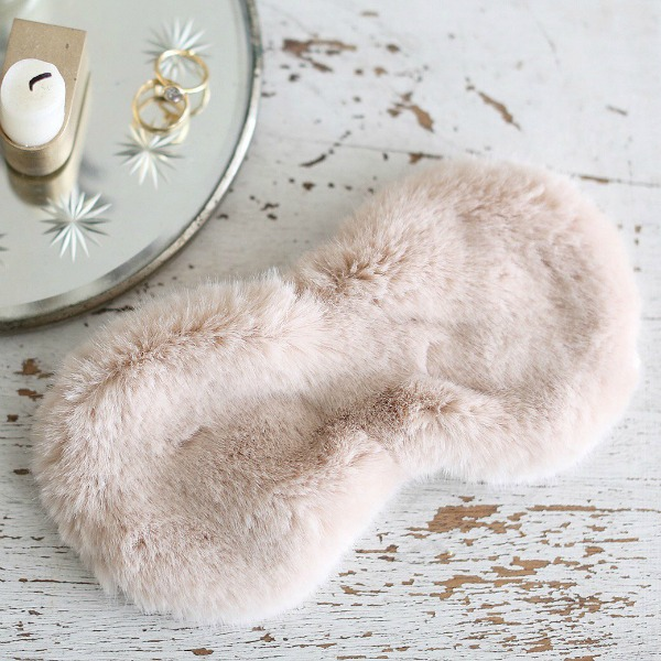 Faux Fur blush eye mask. Shabby Chic Couture Design Inspiration from Rachel Ashwell!