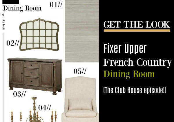 Fixer Upper The Club House Dining Room - get the look. #fixerupper #theclubhouse #diningroom #interiordesign #joannagaines #getthelook #decoratingideas #furniture