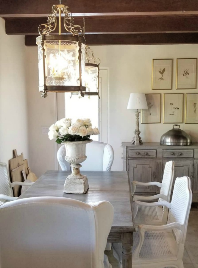 Exquisite French country dining room by The French Nest Co. Interior Design. Rustc elegance and sophisticated style converge!